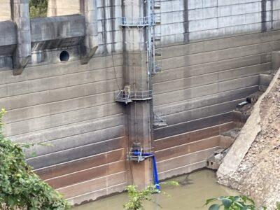日笠ダム・足場工事 その3